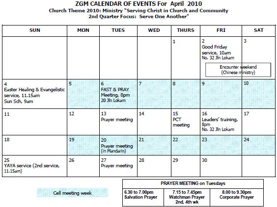 Apr 2010 Events